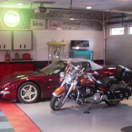 Garage Decorations and Floor Tiles