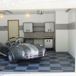 Garage Floor Tiles and Slatwall Panels