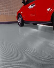Ribbed Vinyl Flooring - 10 x 22