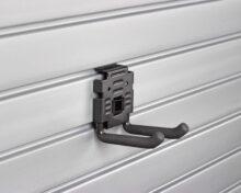 Four inch Double Hook shown on HandiWall Slatwall Panels