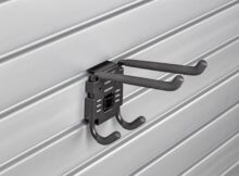 HandiWall Double Utility Hook with Lock on Slatwall Panels