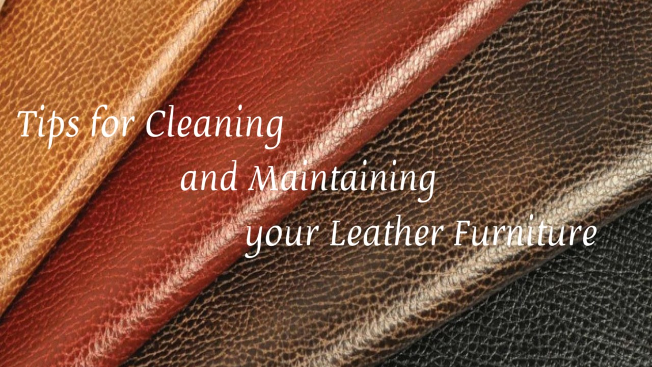 Tips for cleaning and maintaining leather furniture