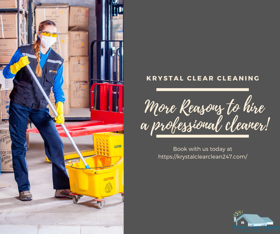 More reasons to hire a professional cleaner!