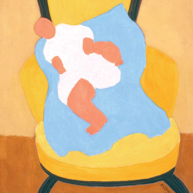 minimalist painting of a baby