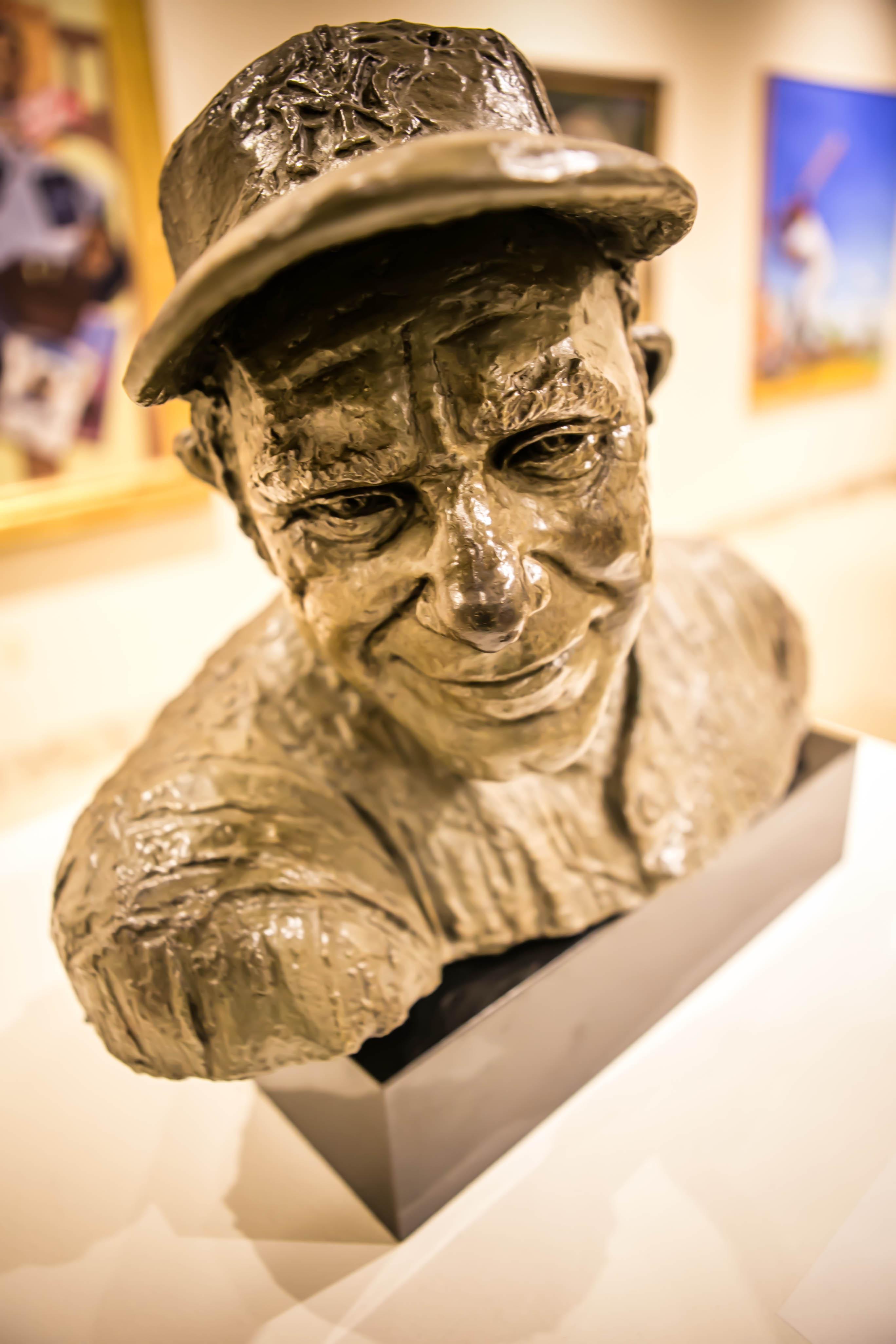 bust of baseball player