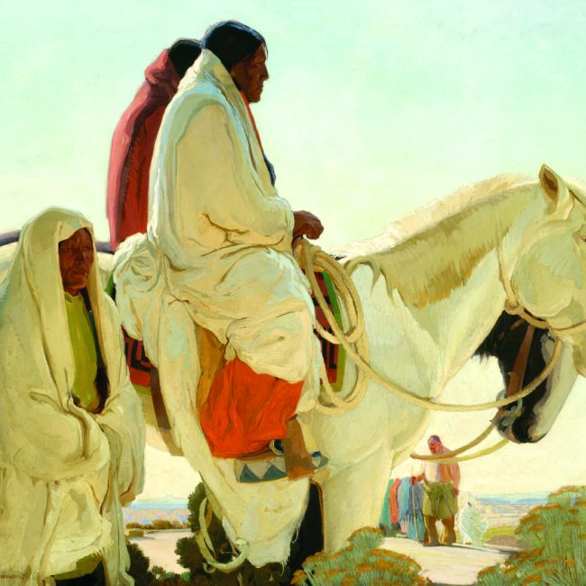 american Indian riding a horse