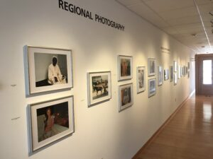 gallery hallway with african pictures