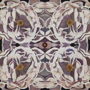 flowers in a kaleidoscope pattern