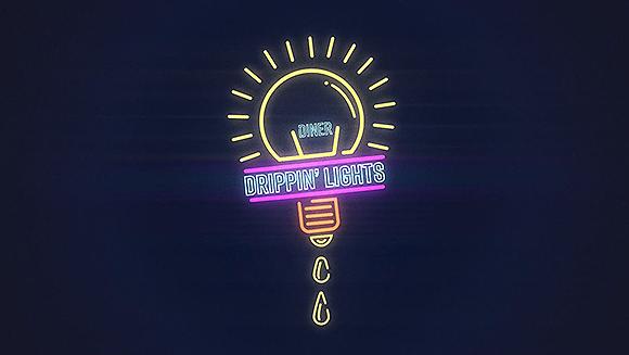 Drippin' Lights Diner – Neon Sign