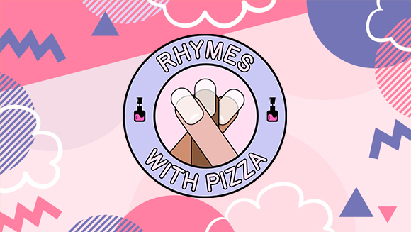 Rhymes With Pizza Logo