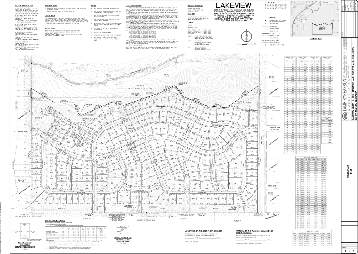 LAKEVIEW RESIDENTIAL SUBDIVISION-MAP