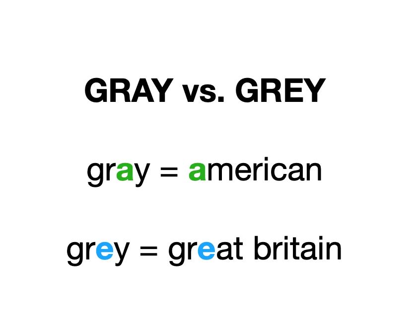 gray vs. grey