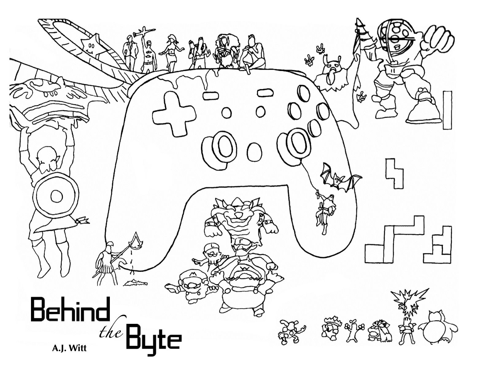 behind the byte, aj witt, comics, comic books, reading, reading during covid, video games, mario kart, pokemon, zelda, illustrate