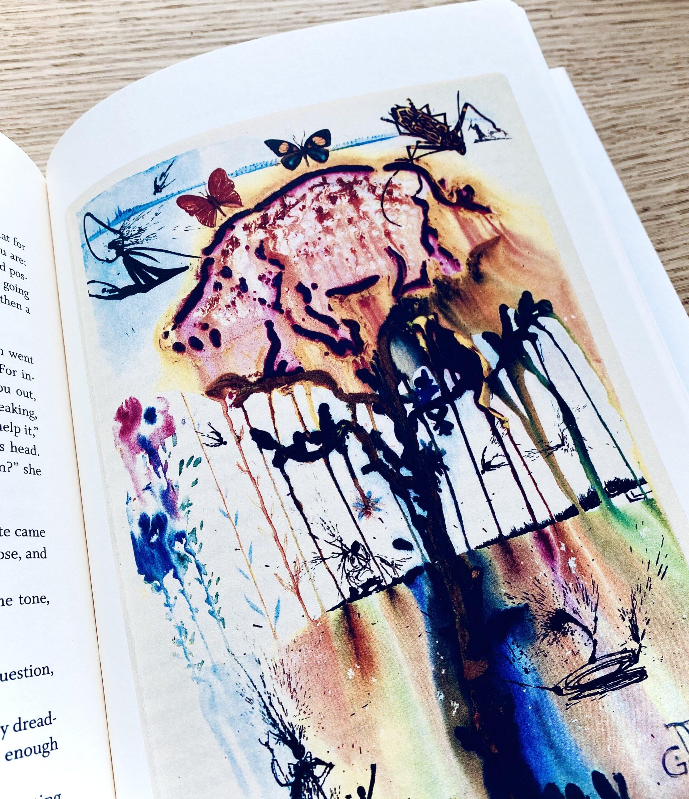 alice in wonderland, books, writing, art, salvador dali, illustrate