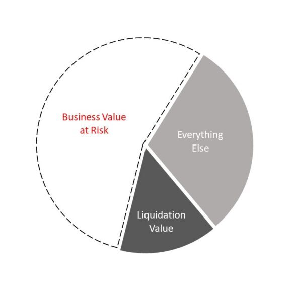 Business Value at Risk Pie Chart Image