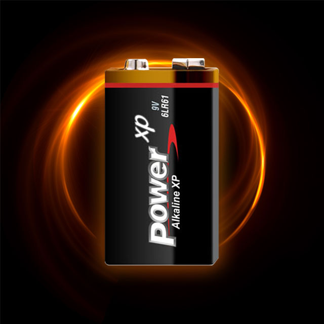 9V Alkaline Battery with More Power