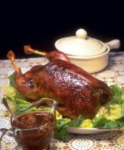 chicken dinner served in restaurant
