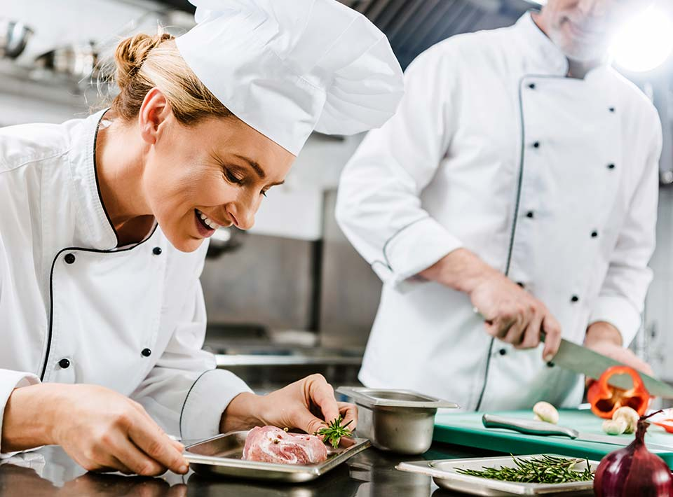 customer placed order and chef is cooking