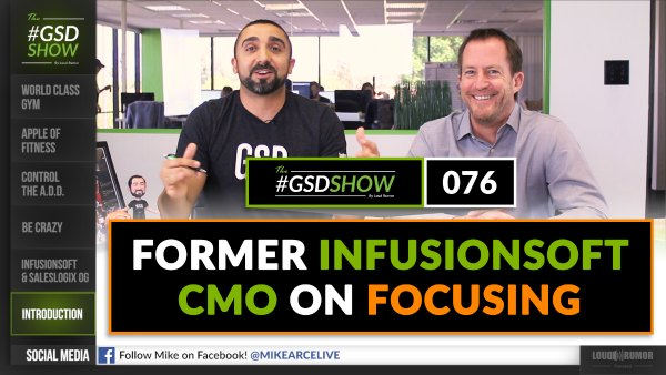 Former Infusionsoft CMO on Focusing