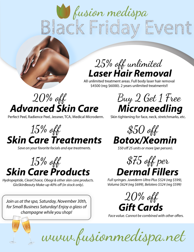 Black Friday Spa Specials in Tampa Bay at Fusion Medispa
