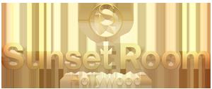 Sunset Room Hollywood gold metallic logo