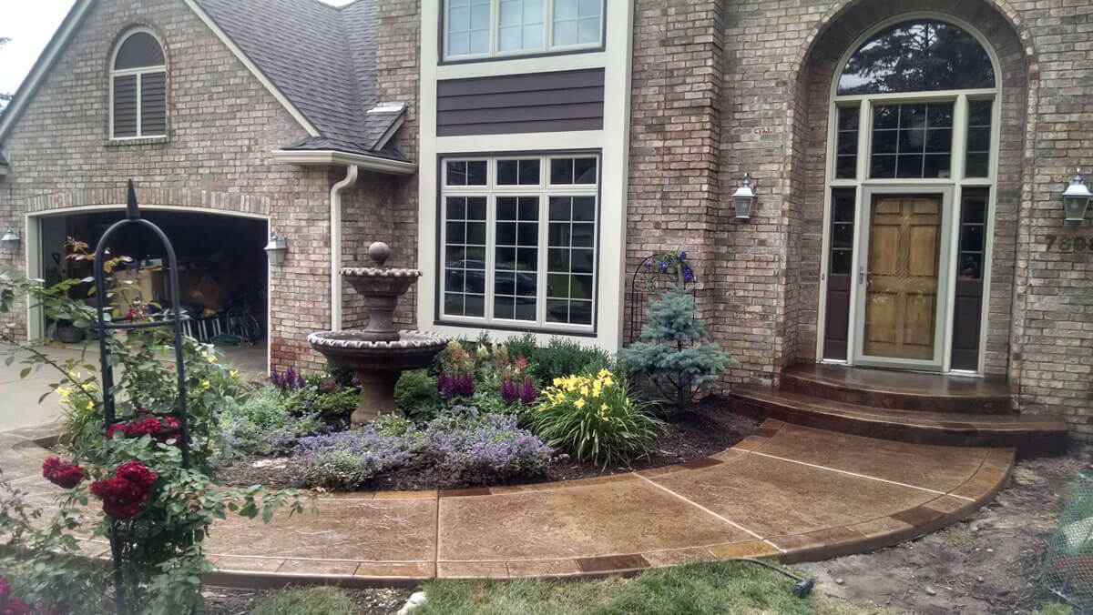 Decorative Concrete Entrance Walkway Burnsville MN