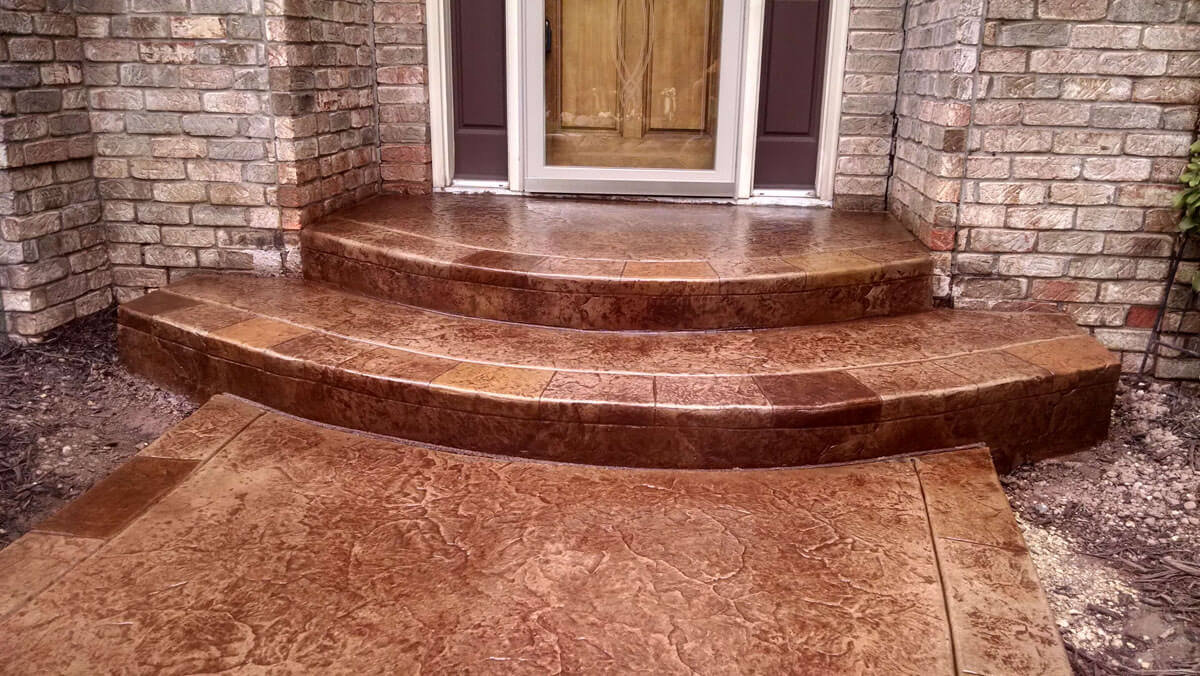 Stamped and Colored Concrete Walkway Burnsville MN