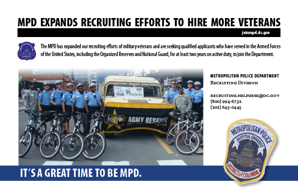 Metropolitan Police Department – MPD is Hiring More Veterans