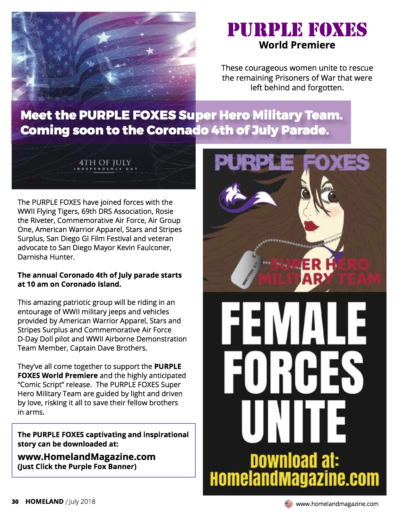 Purple Foxes – Female Forces Unite