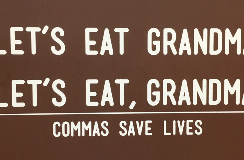 Commas save lives . . .