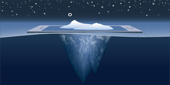 iceberg representing deep web and dark web