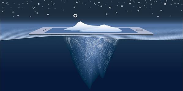 iceberg representing deep web and dark web