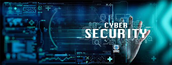cybersecurity training image with various tech images behind it