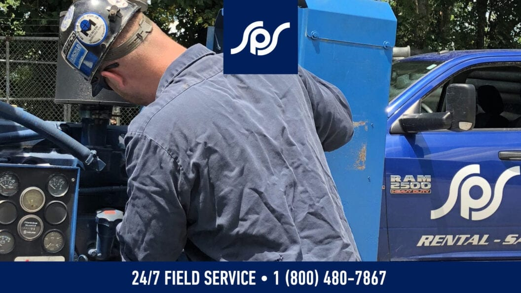 Service Pump and Supply technician working in the field.