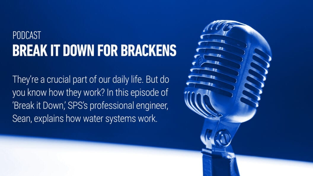 """Sean Farrell, SPS's resident professional engineer, shared his passion for clean water and his deep knowledge of water systems on the podcast """"Break It Down for Brackens."""""""