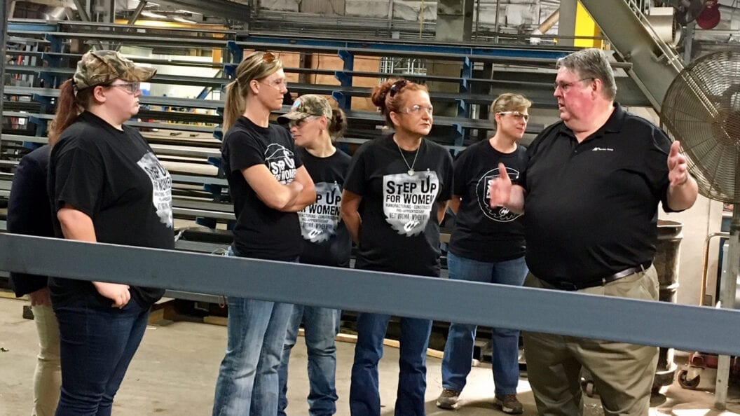 Step Up For Women Participants visit the Fabrication Shop at our Huntington, WV, branch.