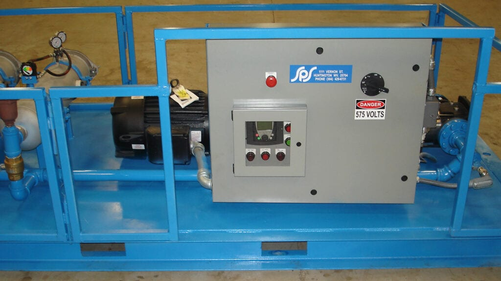 SPS customizes and installs VFDs (Variable Frequency Drives). This photo is of a packaged system we recently put together, which includes a VFD.