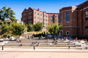 Knoxville, TN, USA - September 25, 2014:The Hill is the colloquial name for the location of various academic buildings on the University of Tennessee, Knoxville's campus. It comprises the oldest part of the university, and is located at the eastern side of the campus.