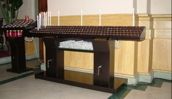 Customized electric church-candles holder