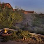 Fire Bowl at edge of patio in raised planter | 2004 ALCA Judges Award