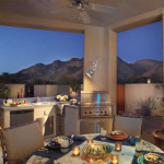 Outdoor kitchen with new patio roof | 2003 ALCA Award of Distinction