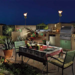 Gas torches on top of columns | 2005 ALCA Award of Excellence | 2008 APLD Award of Merit