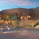 Step lights at slate tile entry path | 2004 ALCA Award of Excellence