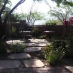 Concrete paver seating area and flagstone step stones | 2009 ALCA Judges Award