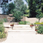Mexican fountain at flagstone patio   2002 ALCA Judges Award