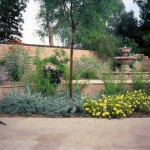 Flowering low water use shrubs at flagstone patio | 2002 ALCA Judges Award