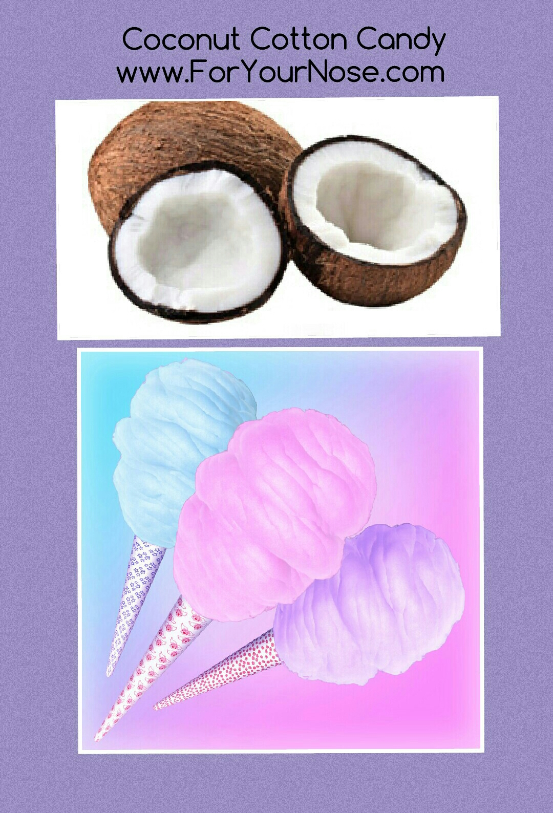 coconut cotton candy fragrance