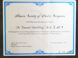 MVM Award from ISPS 2016, liposuccion Skokie-IL