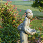 Japanese Garden planting and statue