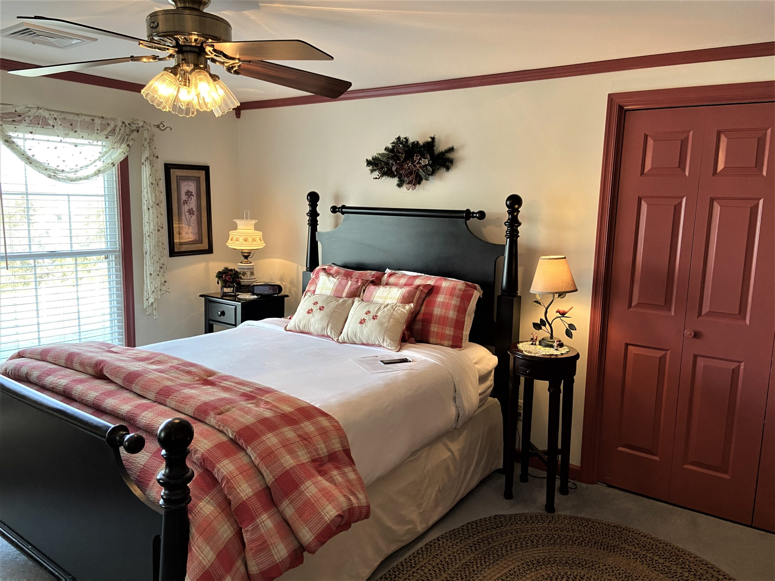 Country Comfort Room with welcome letter